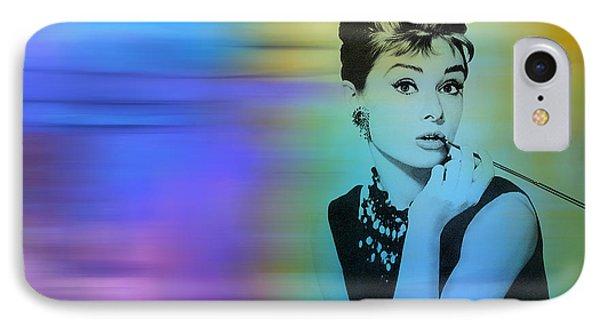 Audrey Hepburn Art IPhone Case by Marvin Blaine