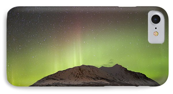 Aurora Borealis And Milky Way Phone Case by Joseph Bradley