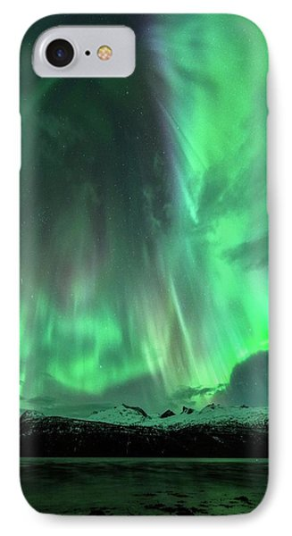 Aurora Borealis During Geomagnetic Storm IPhone Case by Tommy Eliassen