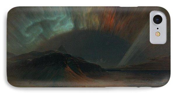 Aurora Borealis IPhone Case by Frederic Edwin Church