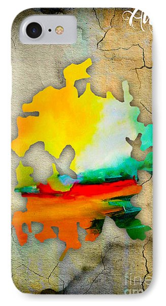 Austin Map Watercolor IPhone Case by Marvin Blaine