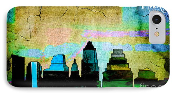 Austin Skyline Watercolor IPhone Case by Marvin Blaine