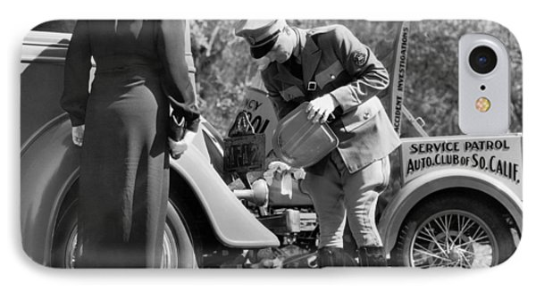 Auto Service Patrol Gives Aid IPhone Case by Underwood Archives