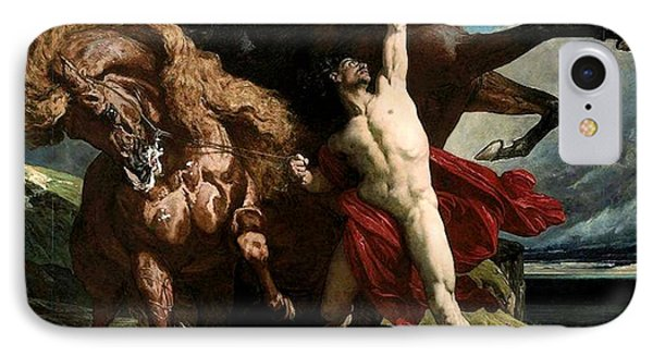 Automedon With The Horses Of Achilles IPhone Case by Henri Regnault
