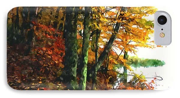 Autumn Colors In The Forest 1 Phone Case by Lanjee Chee