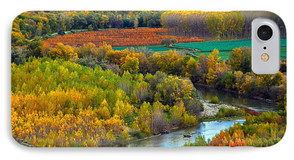 Autumn Colors On The Ebro River Phone Case by RicardMN Photography