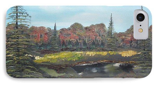 IPhone Case featuring the painting Autumn Landscape by Jan Dappen