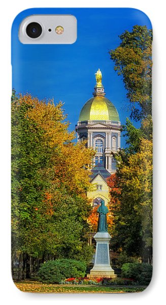 Autumn On The Campus Of Notre Dame IPhone Case by Mountain Dreams