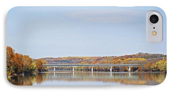 Autumn On The Delaware IPhone Case by Elsa Marie Santoro