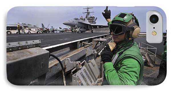 Aviation Boatswain's Mate Signals Phone Case by Stocktrek Images