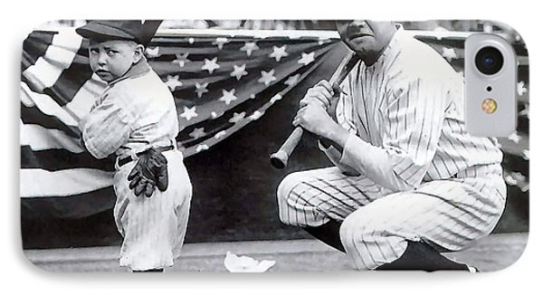 Babe Ruth IPhone Case by Marvin Blaine