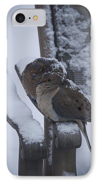 IPhone Case featuring the photograph Baby It's Cold Outside 2 by Phil Abrams