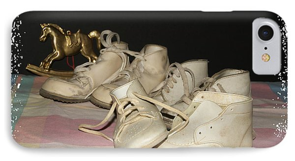 IPhone Case featuring the photograph Baby Shoes by Margie Avellino