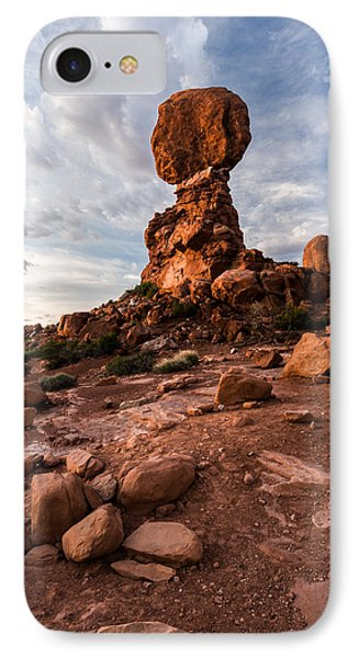 IPhone Case featuring the photograph Balanced Rock by Jay Stockhaus