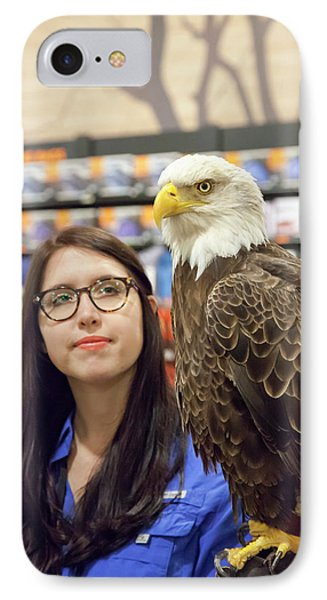 Bald Eagle With Handler IPhone Case