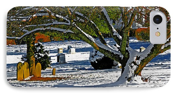 Baldwin Memorial United Methodist Church Cemetery IPhone Case by Andy Lawless