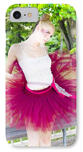 Ballerina Stretching And Warming Up IPhone Case by Jorgo Photography - Wall Art Gallery