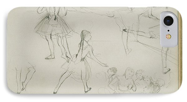 Ballet Dancers Rehearsing Edgar Degas, French IPhone Case