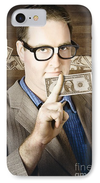 Banking Business Man With American Money IPhone Case