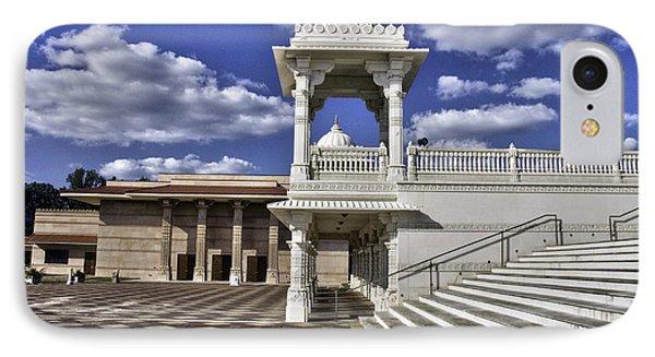 Baps Shri Swaminarayan Mandir IPhone Case by Allen Carroll