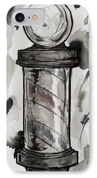 Barber Pole Phone Case by The Styles Gallery