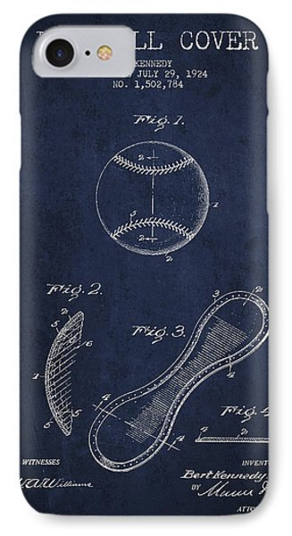 Baseball Cover Patent Drawing From 1924 IPhone 7 Case
