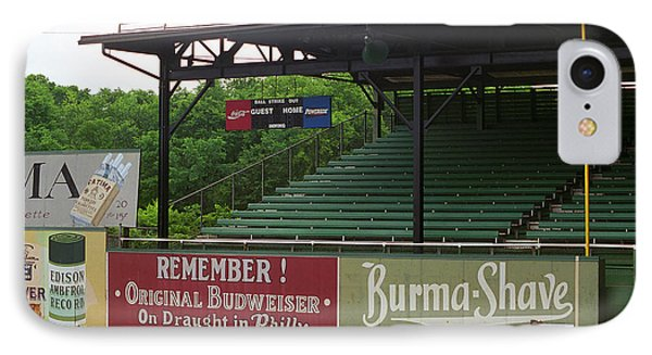 Baseball Field Burma Shave Sign Phone Case by Frank Romeo