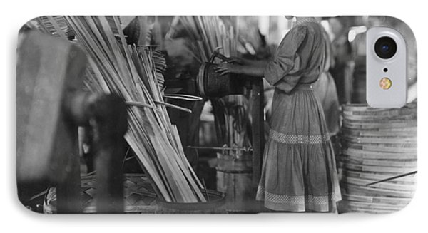 Basket Factory, 1908 IPhone Case by Granger