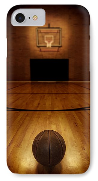 Basketball And Basketball Court Phone Case by Lane Erickson