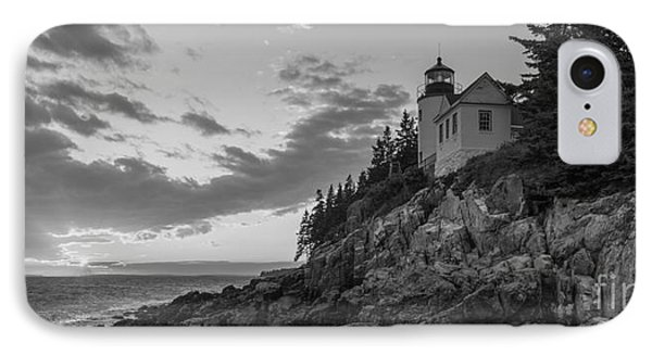 Bass Harbor Head Light Sunset  IPhone Case by Michael Ver Sprill