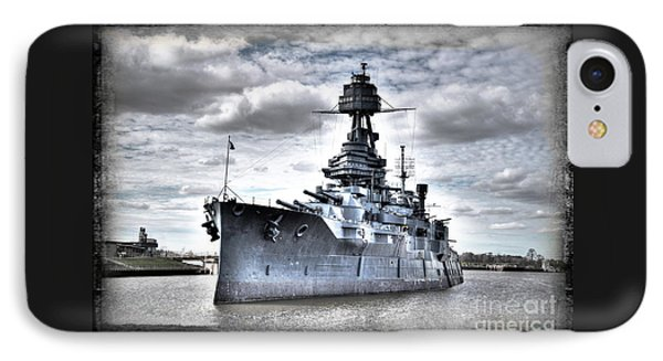 Battleship Texas IPhone Case by Savannah Gibbs