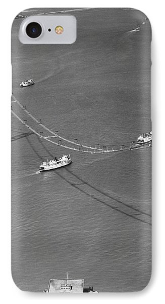 Bay Bridge Under Construction IPhone Case by Charles Hiller