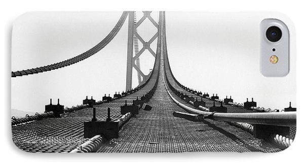 Bay Bridge Under Construction IPhone Case by Ray Hassman