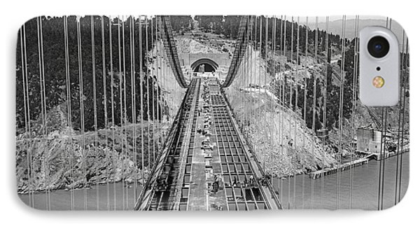 Bay Bridge Under Construction IPhone Case by Underwood Archives
