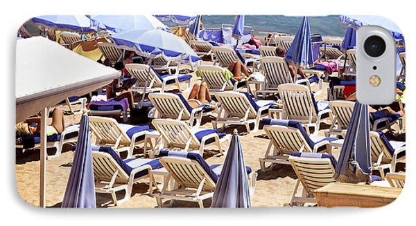 Beach In Cannes Phone Case by Elena Elisseeva