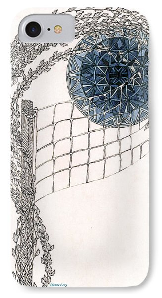 IPhone Case featuring the drawing Beach Volleyball by Dianne Levy