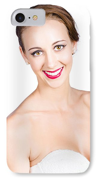 Beautiful Woman Smiling IPhone Case by Jorgo Photography - Wall Art Gallery