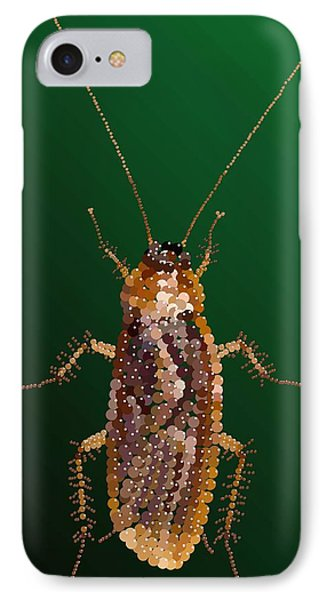 Bedazzled Roach IPhone Case by R  Allen Swezey