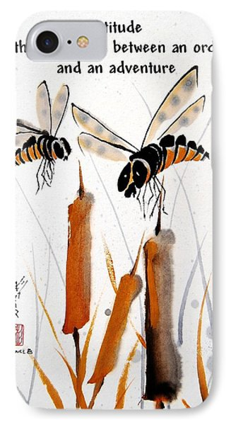 IPhone Case featuring the painting Beeing Present by Bill Searle
