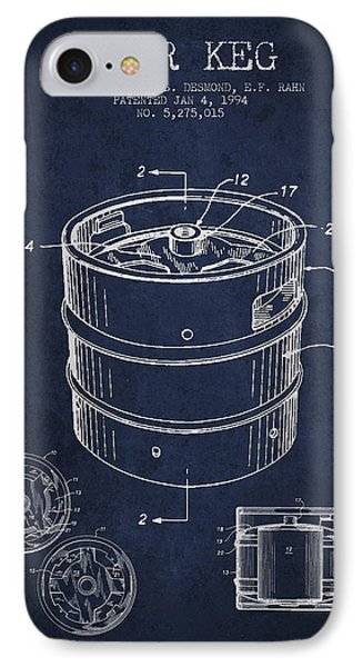 Beer Keg Patent Drawing - Green IPhone Case