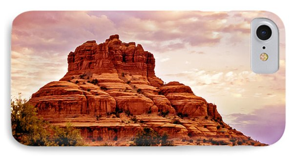 Bell Rock Vortex Painting IPhone Case by Bob and Nadine Johnston