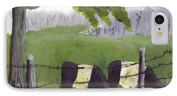 Belted Galloway Cows In Rockport Maine IPhone Case by Keith Webber Jr