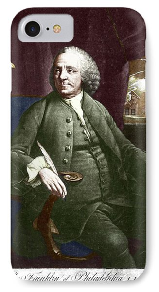 Benjamin Franklin IPhone Case by Science Photo Library