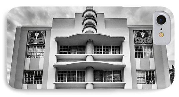 Berkeley Shores Hotel  2 - South Beach - Miami - Florida - Black And White IPhone Case