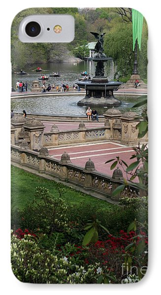 Bethesda Fountain - Central Park Nyc IPhone Case by Christiane Schulze Art And Photography