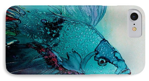 Betta Dragon Fish IPhone Case by Marcia Breznay