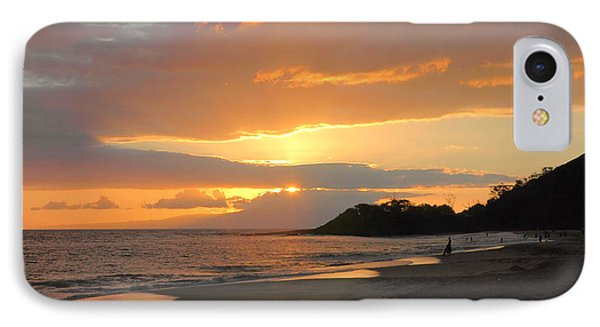 Big Beach At Sunset IPhone Case by Stephen  Vecchiotti