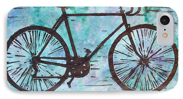 IPhone Case featuring the drawing Bike 8 by William Cauthern