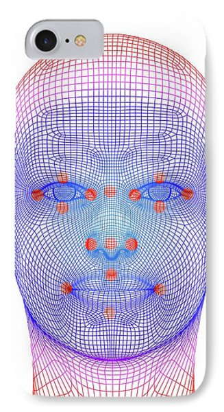 Biometric Facial Map IPhone Case by Alfred Pasieka