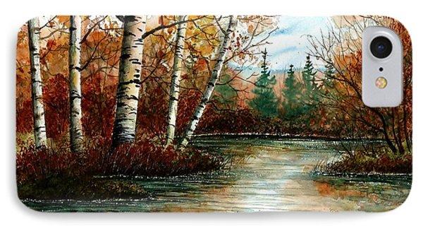 Birch Pond IPhone Case by Steven Schultz